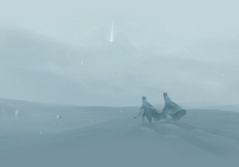The snow storm in Journey.